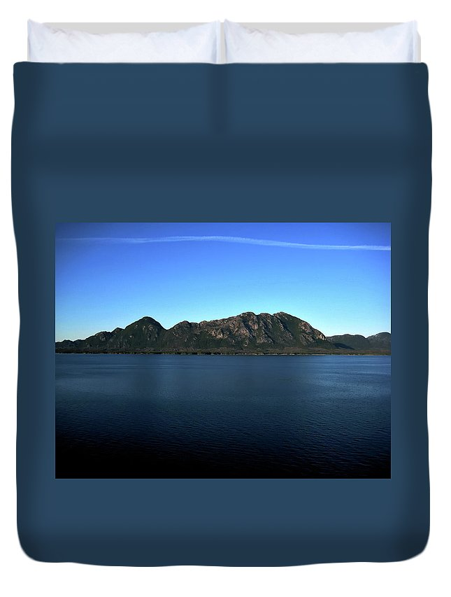 Mountain Duvet Cover featuring the photograph A Mighty Mountain by Lori Tambakis