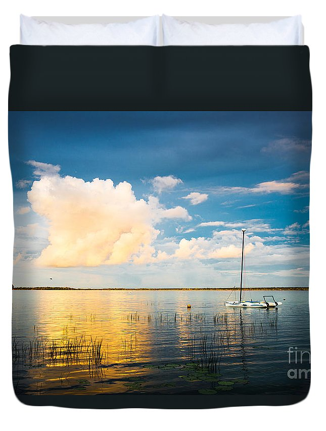 Bcalar Duvet Cover featuring the photograph A Moment In A Jump by Yuri San
