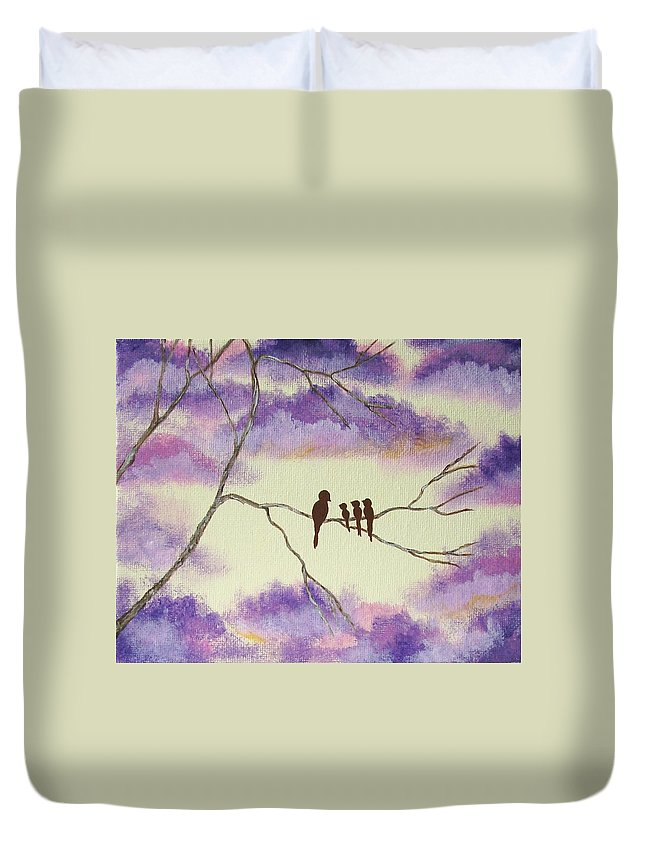 Abstract Duvet Cover featuring the painting A Mothers Blessings by Itaya Lightbourne