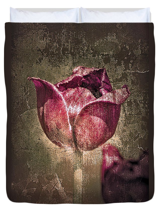 Mothers Day Cards Duvet Cover featuring the photograph A Mother's Day Card by Linda Sannuti