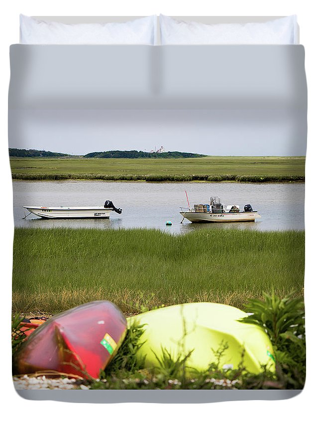 View Duvet Cover featuring the photograph A Nauset Marsh View by Robert Anastasi