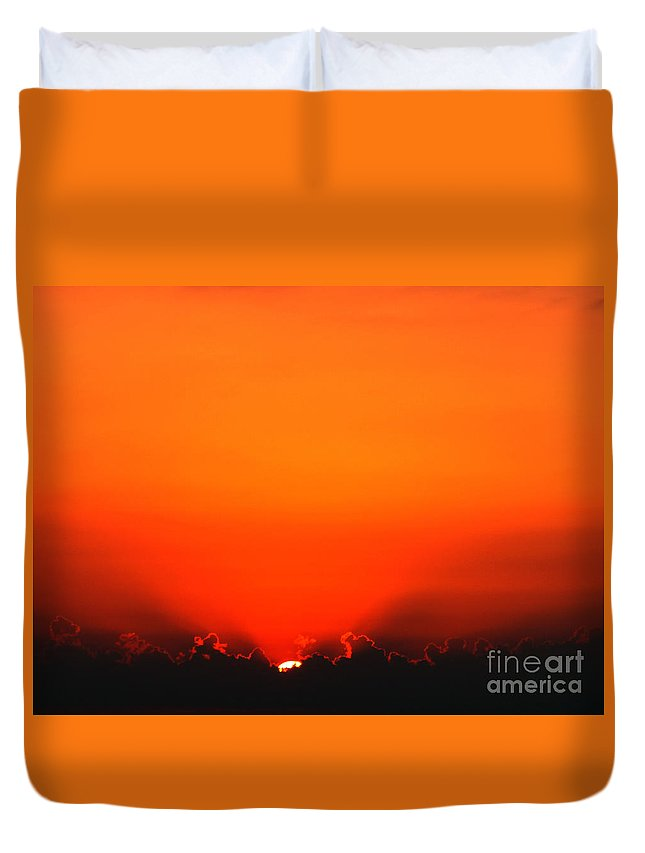 Sun Duvet Cover featuring the photograph A New Day by Amanda Barcon