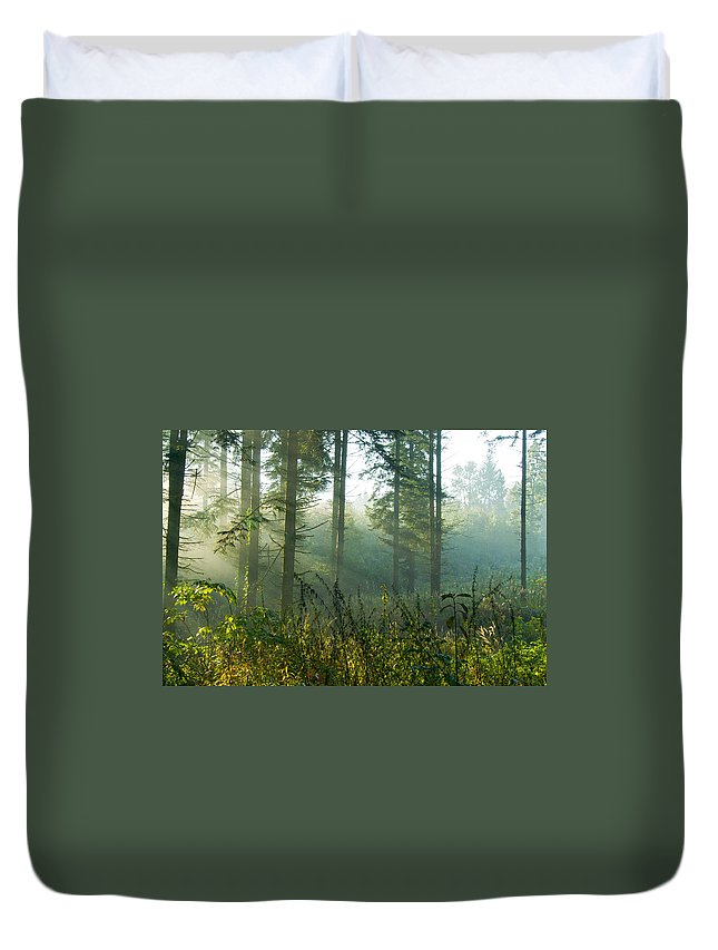 Nature Duvet Cover featuring the photograph A New Day Has Come by Daniel Csoka