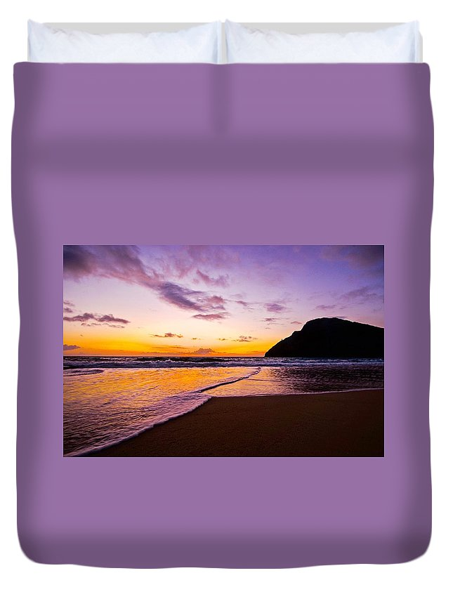 Sunrise Duvet Cover featuring the photograph A New Day by Lore Kuheana