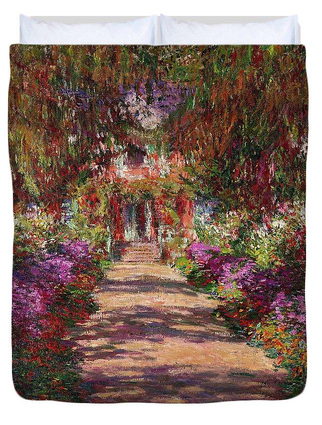 Monet Garden Paintings Duvet Covers