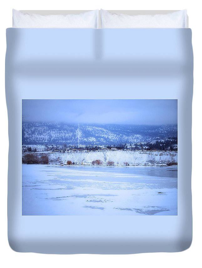 Penticton Duvet Cover featuring the photograph A Penticton Winter by Tara Turner