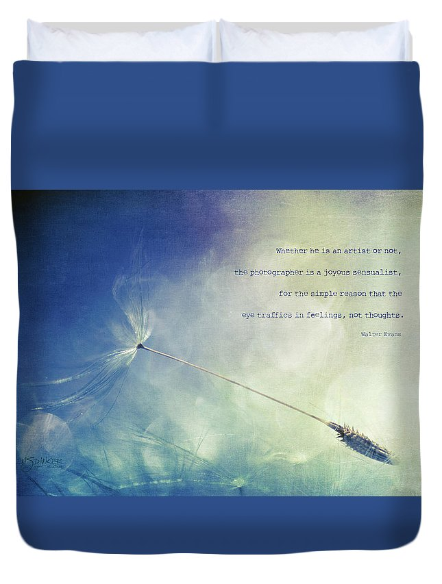 Dandelion Duvet Cover featuring the photograph A Photographer's Eye by Joy Gerow