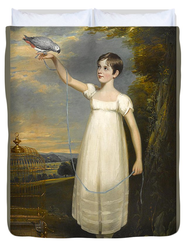 William Beechey Duvet Cover featuring the painting A Portrait Of Ellen Smith Of Nottingham by William Beechey