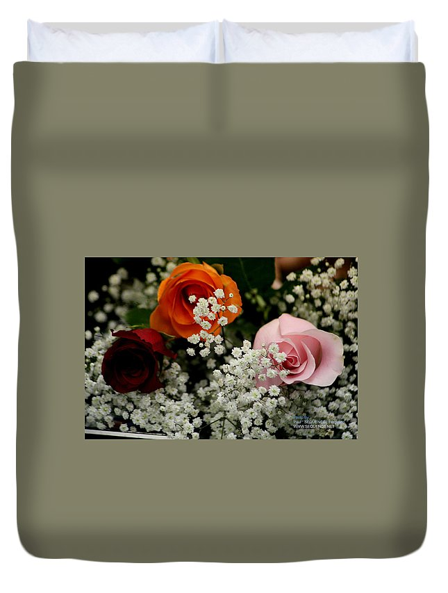 Rose Duvet Cover featuring the photograph A Rose To You by Paul SEQUENCE Ferguson       sequence dot net