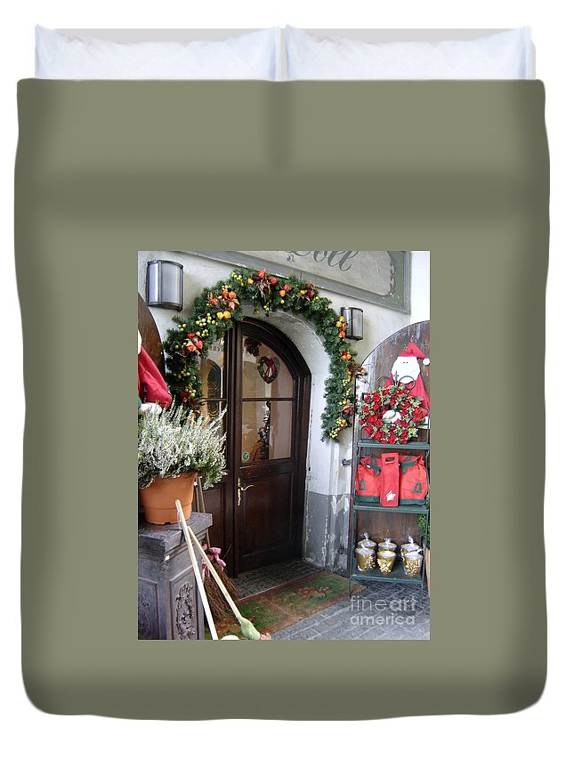 Santa Duvet Cover featuring the photograph A Salzburg Christmas by Mary Rogers