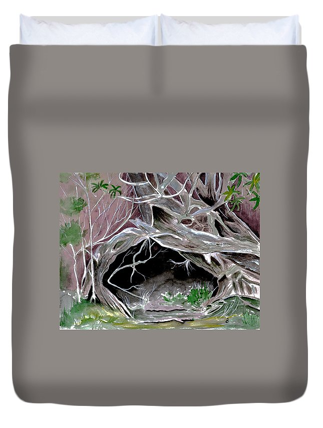 Secret Duvet Cover featuring the painting A Secret Place by Brenda Owen