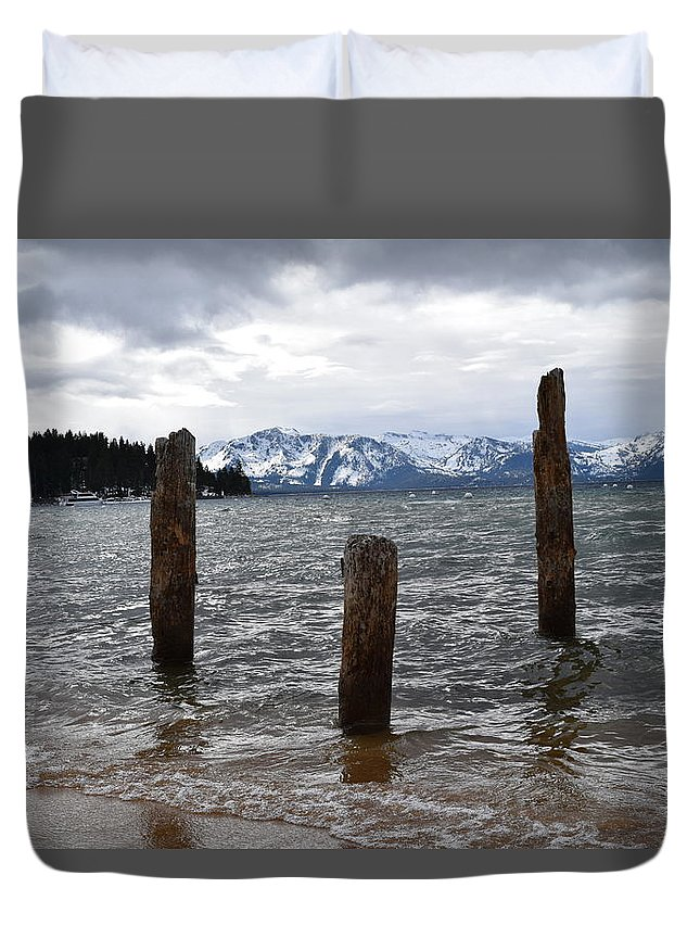 Lake Tahoe Duvet Cover featuring the photograph A Set Of 3 by Christina McNee-Geiger