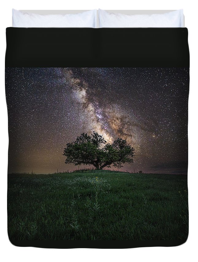 Milky Way Duvet Cover featuring the photograph A Sky Full Of Stars by Aaron J Groen