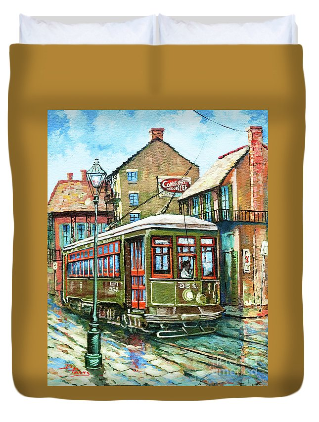 Streetcar Named Desire Duvet Cover featuring the painting A Streetcar Named Desire by Dianne Parks