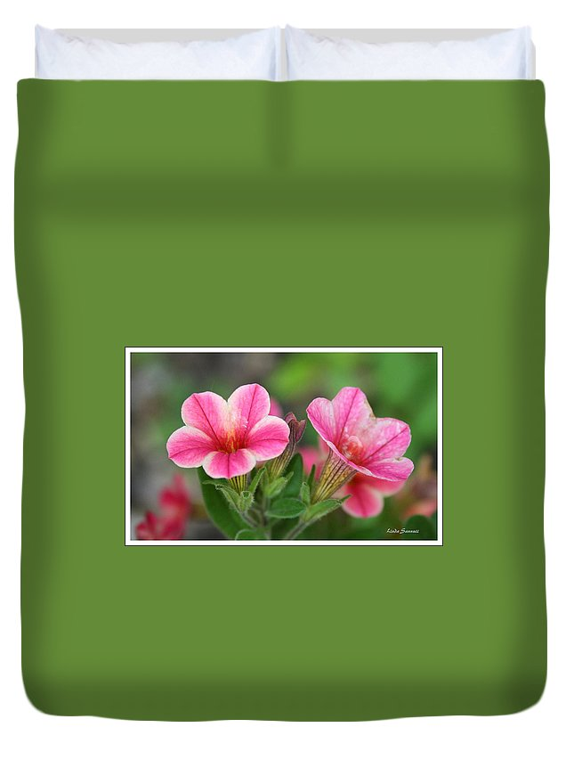 Flowers Duvet Cover featuring the photograph A Sunny Afternoon by Linda Sannuti