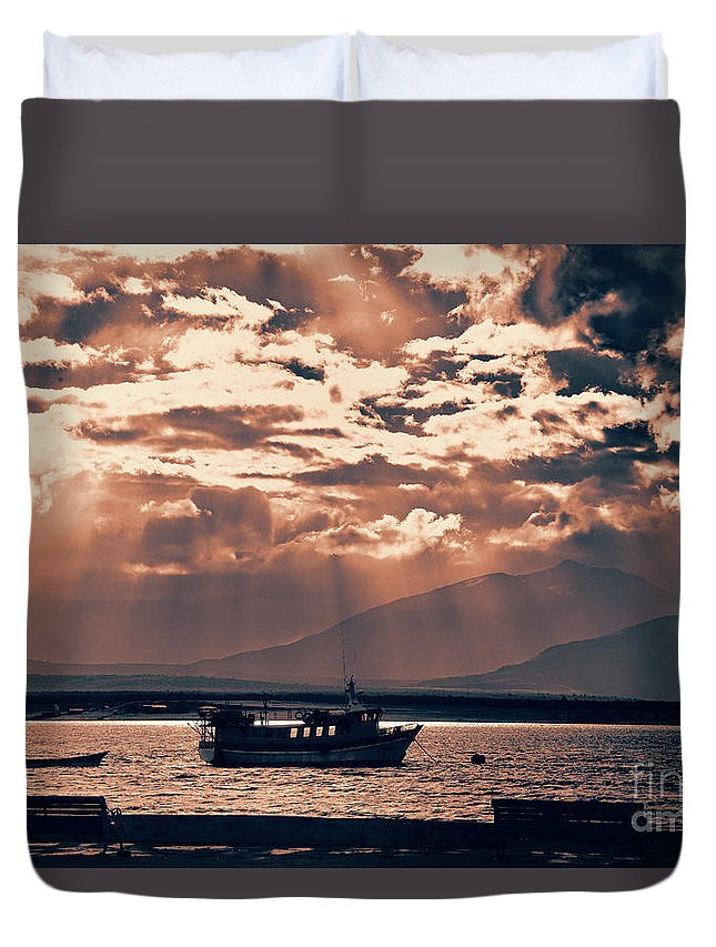 Chile Art Work Natales Duvet Cover featuring the photograph A Taste Of Natales by Rick Bragan