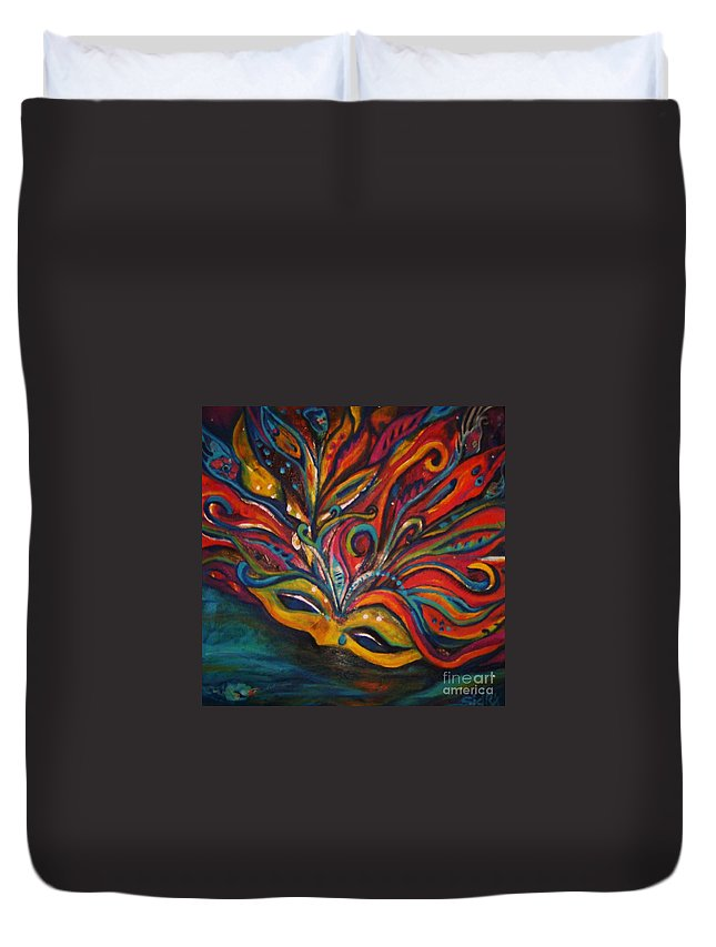 New Orleans Duvet Cover featuring the painting A Tear For New Orleans by Sidra Myers