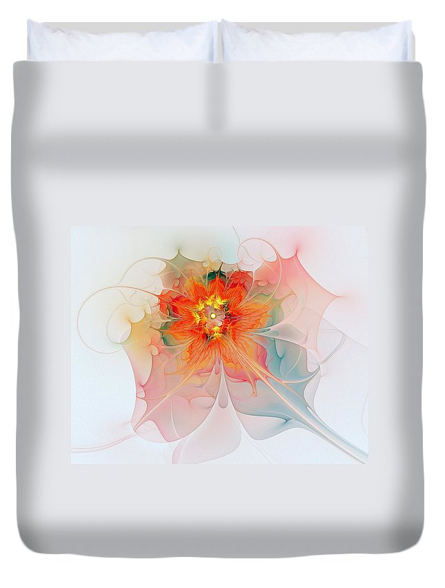 Digital Art Duvet Cover featuring the digital art A Touch of Spring by Amanda Moore