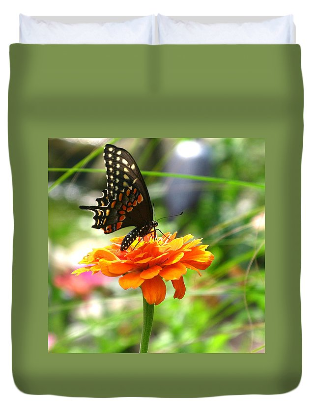 Summer Duvet Cover featuring the photograph A Touch Of Summer's End by Brittany Horton