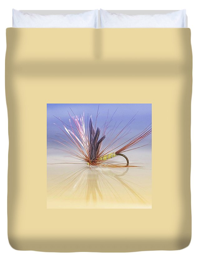 Greenwellsglory Duvet Cover featuring the photograph A Trout Fly (greenwell's Glory) by John Edwards