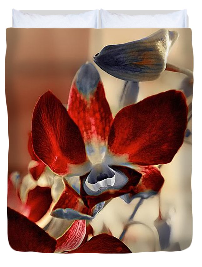 Flowers Duvet Cover featuring the photograph A Vibrant View by Berta Keeney