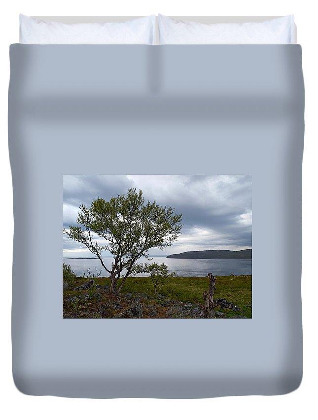 Lehtokukka Duvet Cover featuring the photograph A View To The Arctic Sea by Jouko Lehto