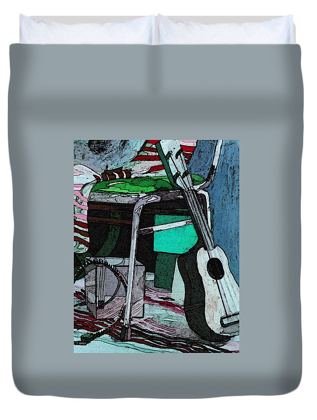 Andy Warhol Duvet Cover featuring the painting A W by Japanese Artist