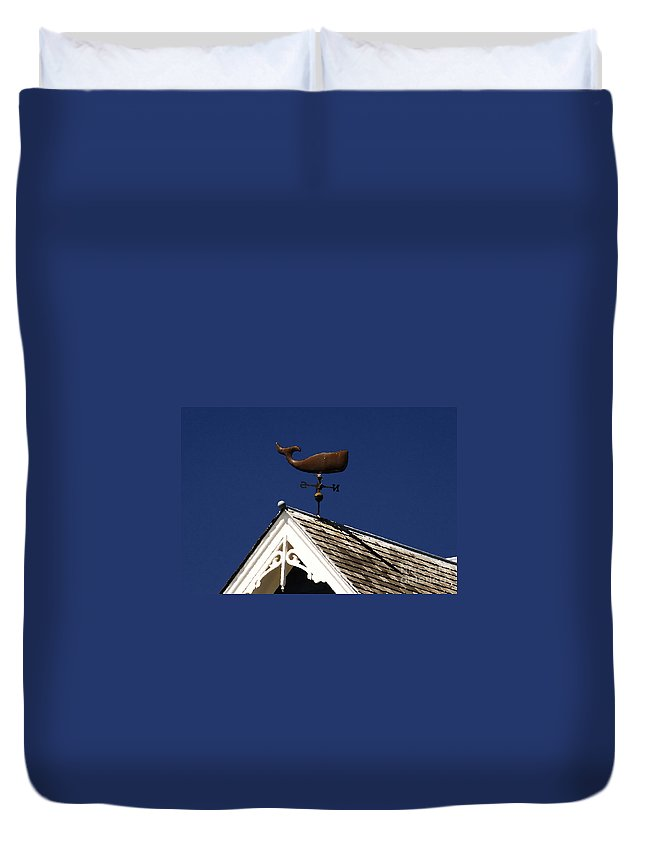 Whale Duvet Cover featuring the painting A Whale Of A House by David Lee Thompson
