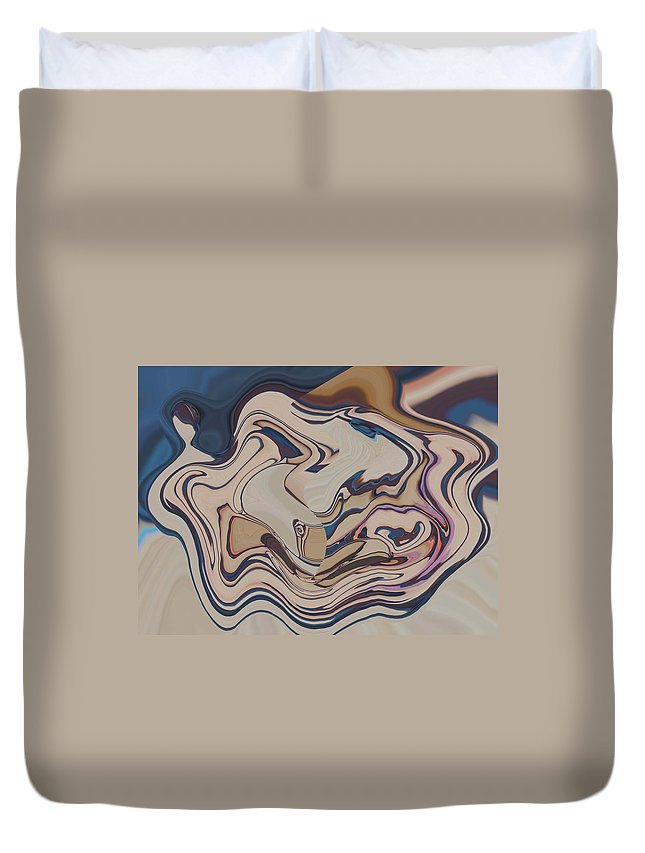 Abstract Duvet Cover featuring the digital art A Womans Embrace by Lenore Senior