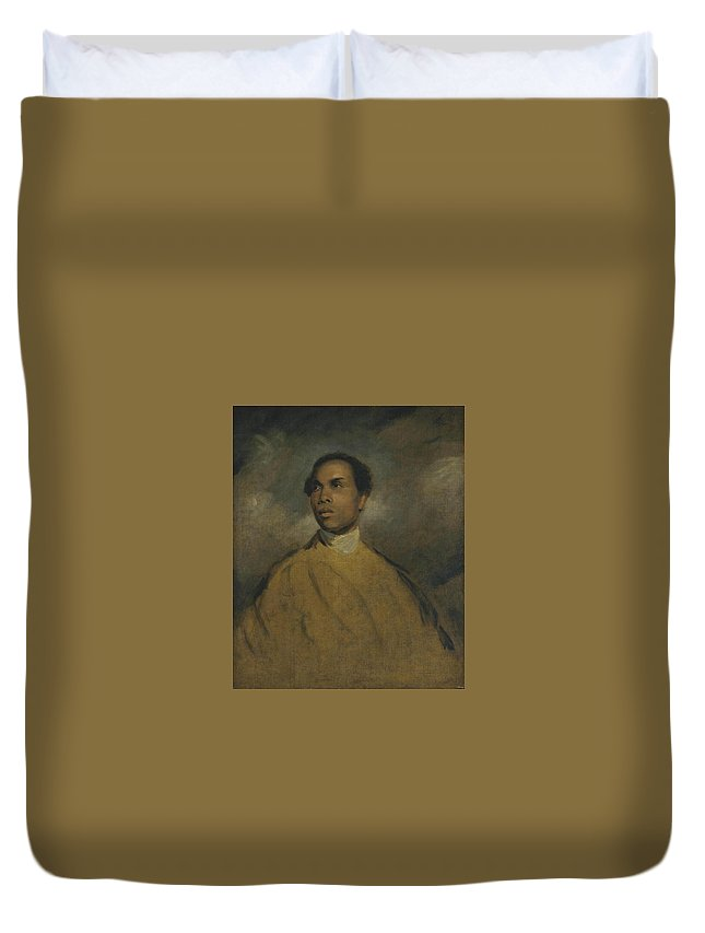 Manner Of Sir Joshua Reynolds 1723�1792  A Young Black (francis Barber) Duvet Cover featuring the painting A Young Black by Joshua Reynolds