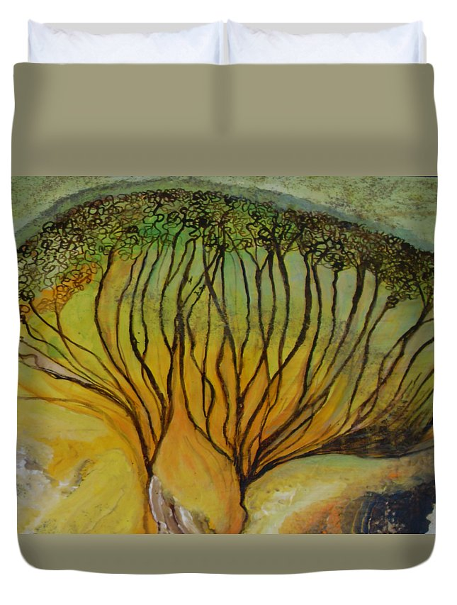 Duvet Cover featuring the painting AA dream by Carol P Kingsley