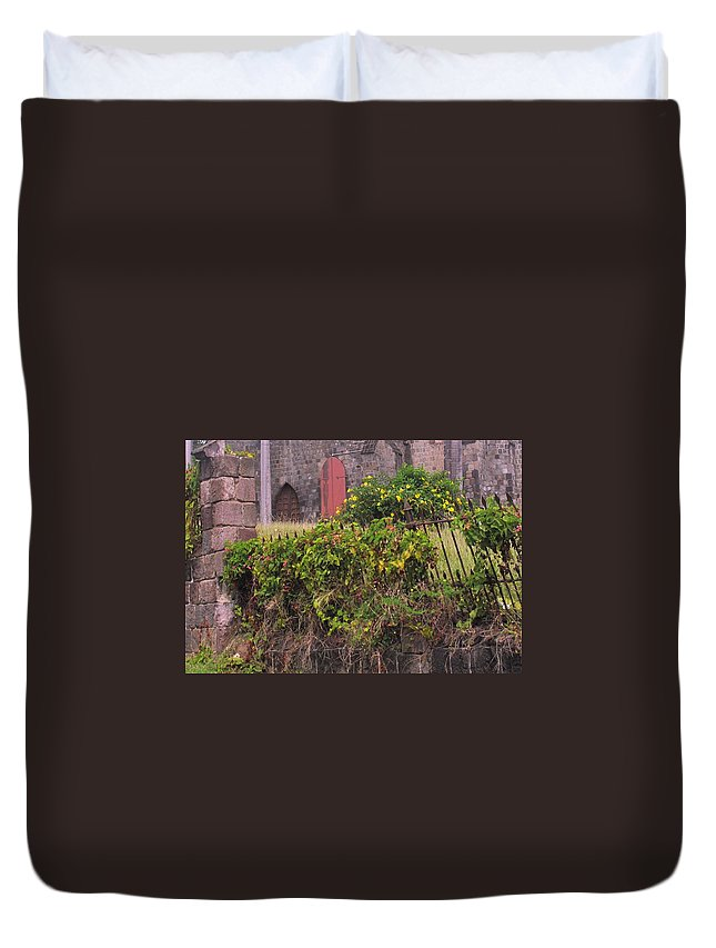 Anglican Duvet Cover featuring the photograph Abandoned Churchyard by Ian MacDonald