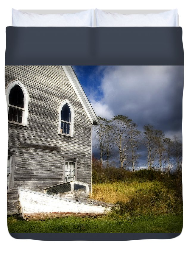 Abandoned Duvet Cover featuring the photograph Abandoned by Eggers Photography