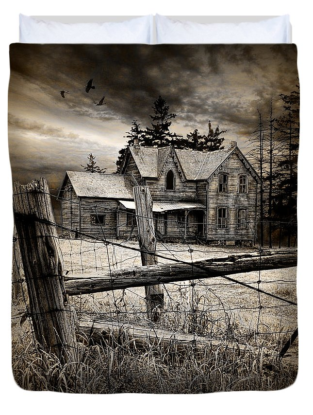 Art Duvet Cover featuring the photograph Abandoned Farm House by Randall Nyhof