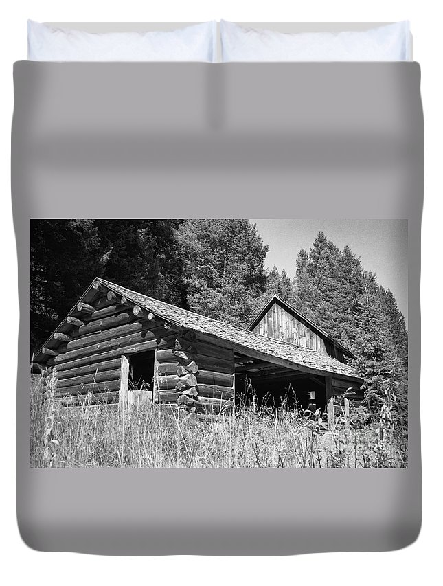 Cabin Duvet Cover featuring the photograph Abandoned Homestead by Richard Rizzo
