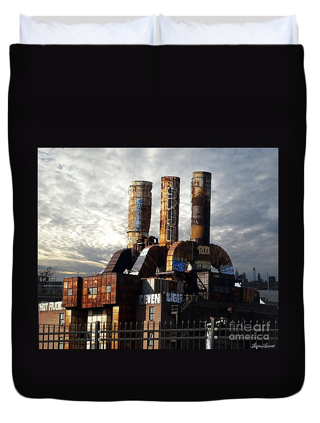 City Duvet Cover featuring the photograph Abandoned Power Plant by Lyric Lucas