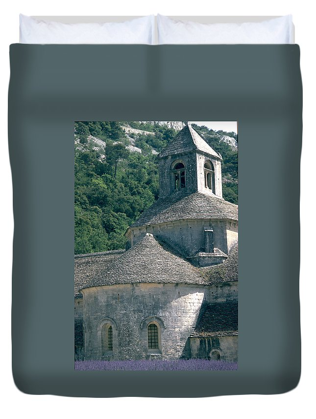 Abbeye De Senanque Duvet Cover featuring the photograph Abbeye De Senanque by Flavia Westerwelle