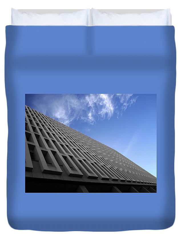 Building Duvet Cover featuring the photograph ABC by Kelly Jade King