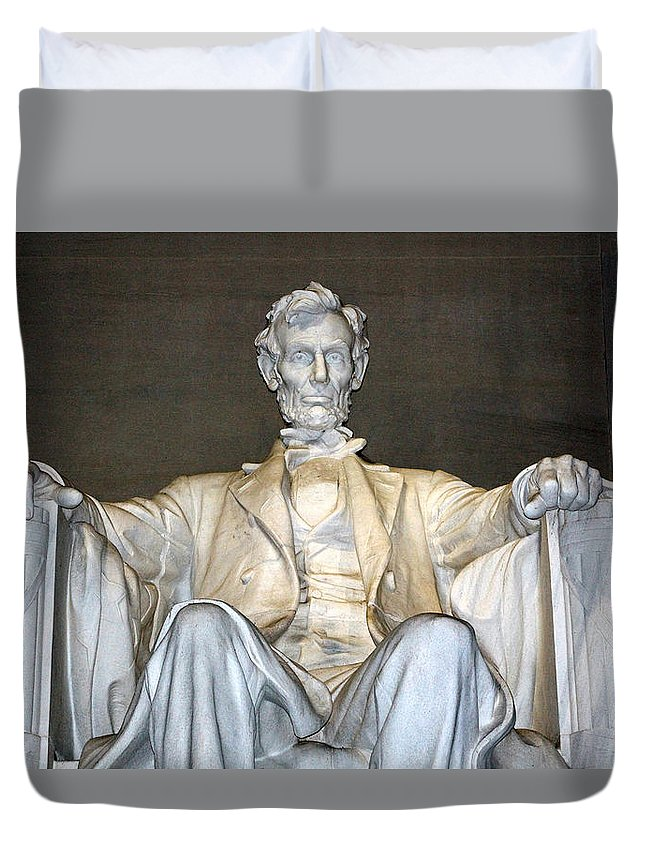 Abe Duvet Cover featuring the photograph Abe Down To His Knees by Cora Wandel