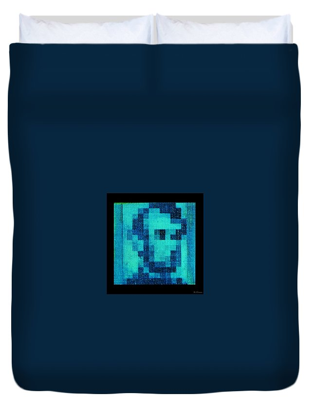 Blue Duvet Cover featuring the photograph Abe In Aqua by Rob Hans