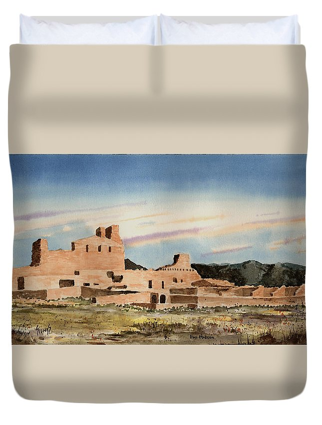 Mission Duvet Cover featuring the painting Abo Mission by Sam Sidders