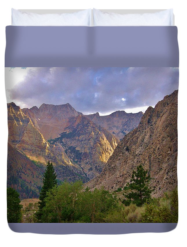 Sky Duvet Cover featuring the photograph About The Light by Marilyn Diaz