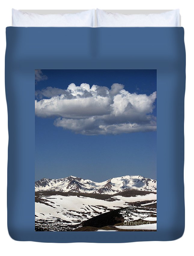 Colorado Duvet Cover featuring the photograph Above It All by Amanda Barcon