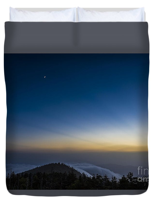 Appalachian Duvet Cover featuring the photograph Above It All by John MacLean