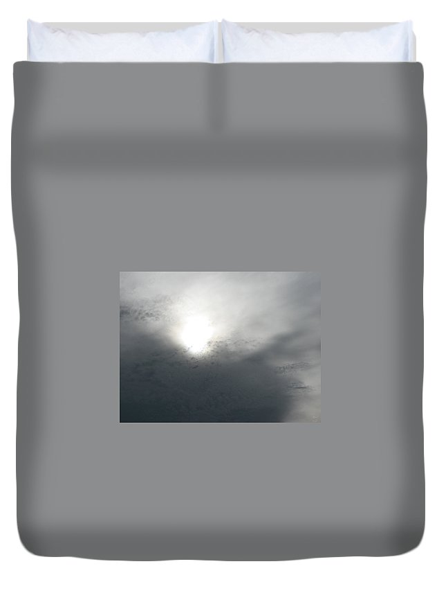 Clouds Duvet Cover featuring the photograph Above by Stacey May