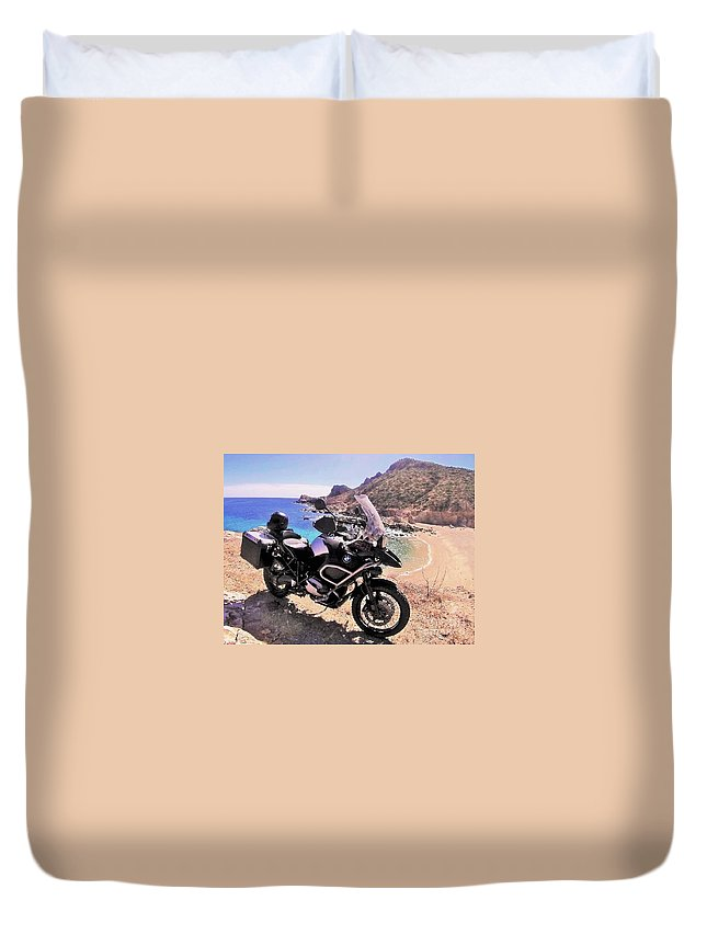 Beach Duvet Cover featuring the photograph Above The Beach by Marilyn Alexander