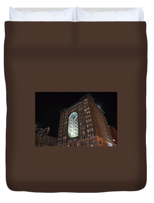 Building Duvet Cover featuring the photograph Above The Byham Theater by Shelley Smith