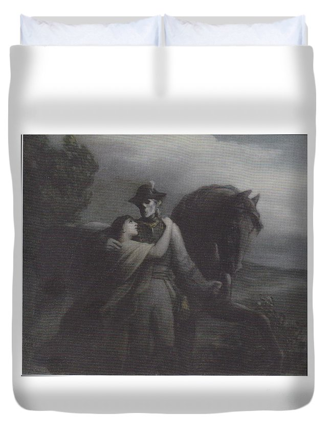 Abshcied Duvet Cover featuring the digital art Abshcied by Frederick Holiday