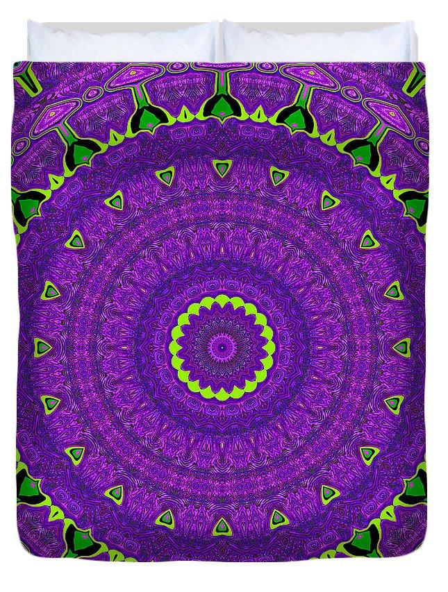 Digital Duvet Cover featuring the digital art Absinthe by Joy McKenzie