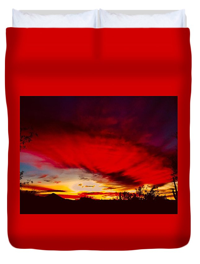 Duvet Cover featuring the photograph Absorbtion by Joy Elizabeth